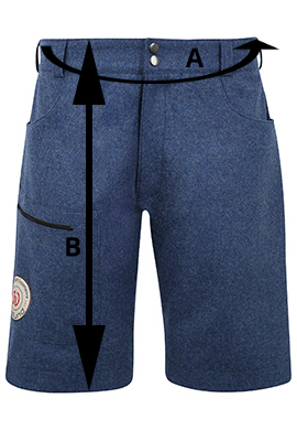 Merino Shorts Maße