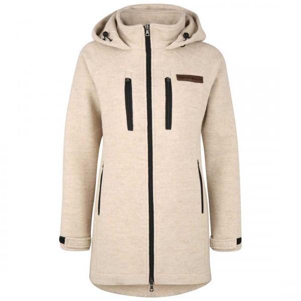 Damen Lodenmantel aus Lodenfleece - kuschelig warmer wollmantel aus Schurwolle für den Winter