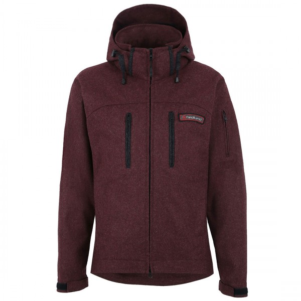 Grenland mid - burnt red - Lodenjacke aus Wolle
