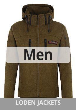 Mens Outdoor Wool Loden jackets