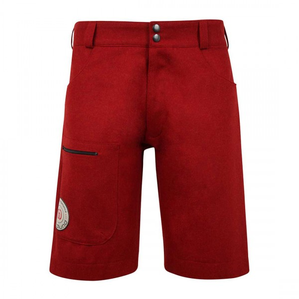 Herren Outdoor Merino Shorts light - red