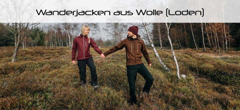 Moderne Jacken zum Wandern aus Wolle (Loden) für Damen und Herren