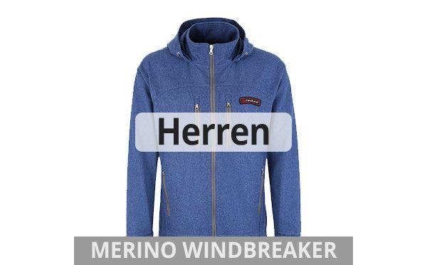 Leichte Windbreaker aus Merinoloden