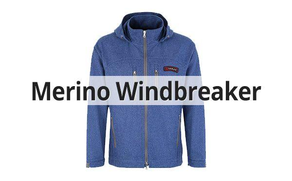 Herren Merino Windbreaker
