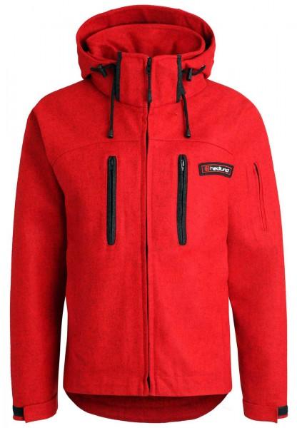 Lodenjacke hedlund Grenland mid red - Softshelljacke aus Wolle