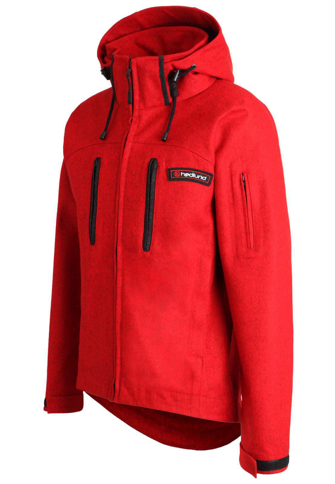 hedlund herren Alpin - Softshelljacke aus Wolle - Grenland mid red