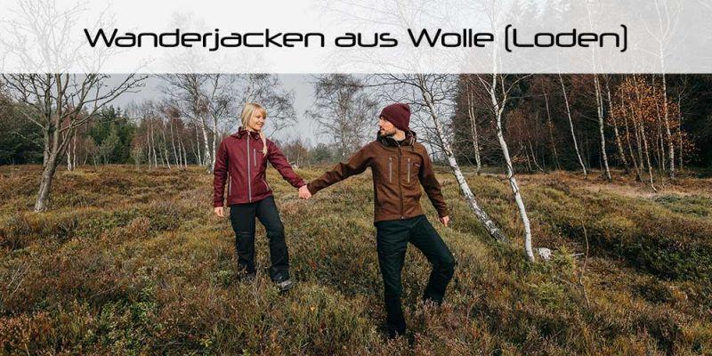 Sportlich moderne Jacken zum Wandern aus Wolle (Loden) für Damen und Herren