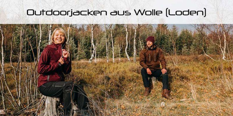 Sportlich moderne Outdoorjacken aus Wolle (Loden) für Damen und Herren