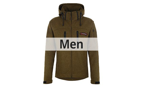 Mens rough Wool Loden Outdoor Jackets